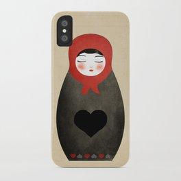 Matryoshka paperdoll Heart iPhone Case