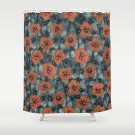 Orange Flowers Shower Curtain