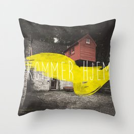 Komme Hjelm Throw Pillow