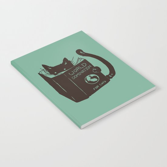 World Domination for Cats (Green) Notebook