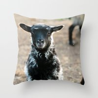 lamb Throw Pillows featuring Lamb by hyycam