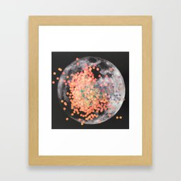 sparkle / moon Framed Art Print