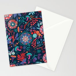 Ripe autumn – cyan and red Stationery Cards