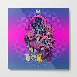 """Mysticx & Magick - Deities and Divinities: """"Octopus Heathen of the Deep"""" Metal Print"""
