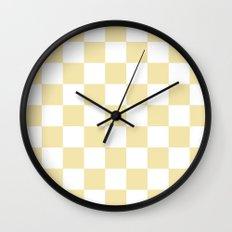 Checker (Vanilla/White) Wall Clock