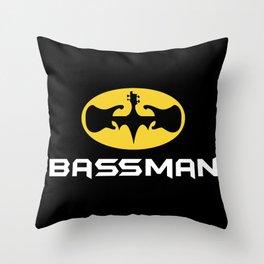 Bassman Throw Pillow