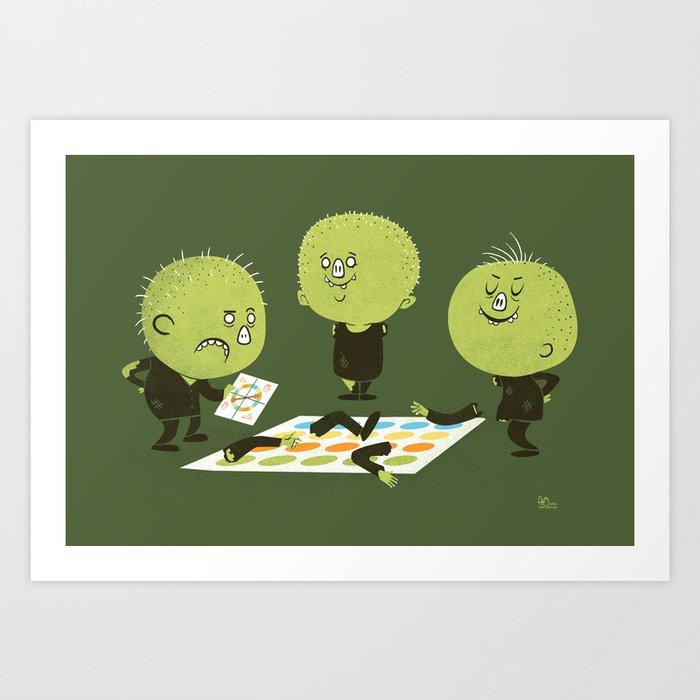 Zombie Twister Art Print