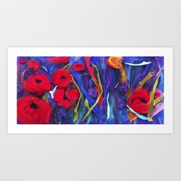 poppy pad Art Print
