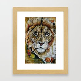 Beauty Lion Framed Art Print