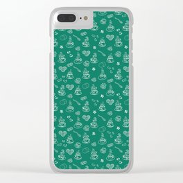 Tea time lush meadow Clear iPhone Case