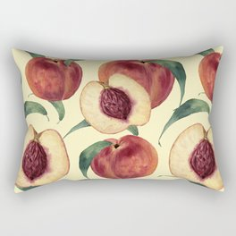 Watercolor sweet peaches Rectangular Pillow