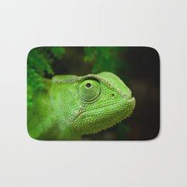 Green chameleon Bath Mat