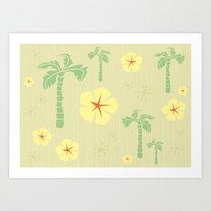 Midcentury Tiki Print Hawaii Retro Vintage Art Print