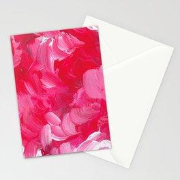 Bold Magenta Brushstrokes Stationery Cards