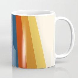 Bright 70's Retro Stripes Coffee Mug