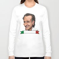 world cup Long Sleeve T-shirts featuring  Cesare Prandelli World Cup by Michael Paci