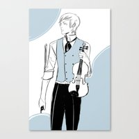 violin Canvas Prints featuring Violin by Cassandra Jean