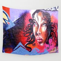 lady Wall Tapestries featuring Lady  by haroulita