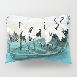 White Cranes Pillow Sham