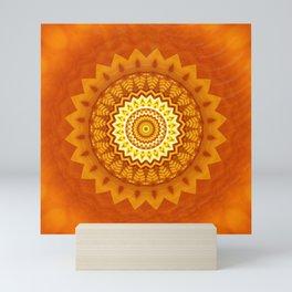 Mandala power of the sun Mini Art Print