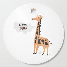 Love Giraffe Cutting Board