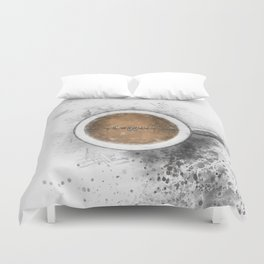 Coffee Heartbeat Duvet Cover