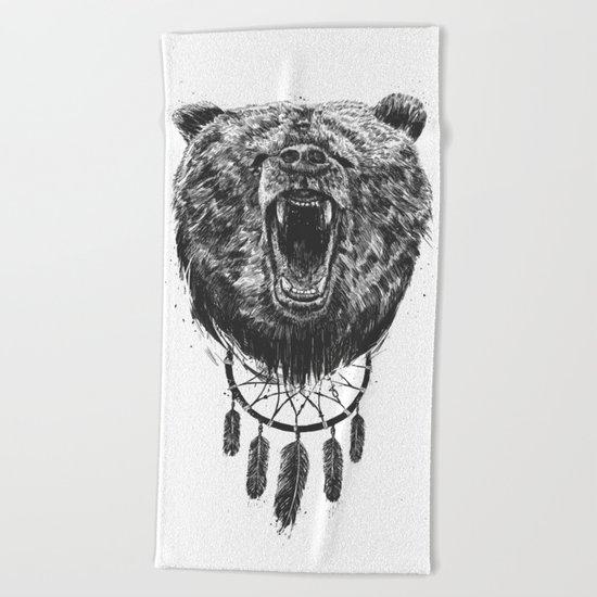 Don't wake the bear Beach Towel