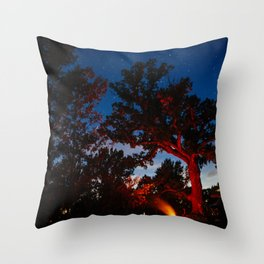 Camping with Coyotes Throw Pillow