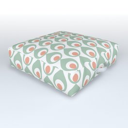 Retro Avocado Muted Outdoor Floor Cushion