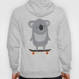 Cute cartoon koala skateboarding Hoody
