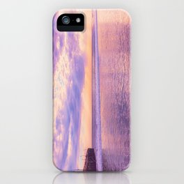 Solace by Sunset Cayucos pier and beach iPhone Case