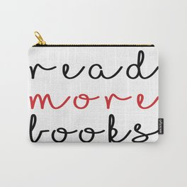 Read more books (white & red) Carry-All Pouch