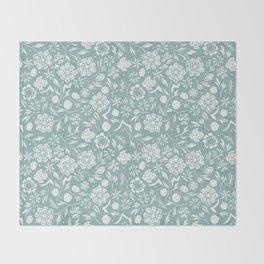 Frozen garden Throw Blanket
