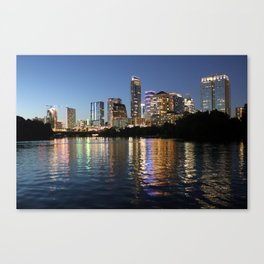 Austin, Texas skyline - city lights Canvas Print