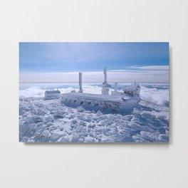 Mount Washington Observatory, Winter, New Hampshire Metal Print