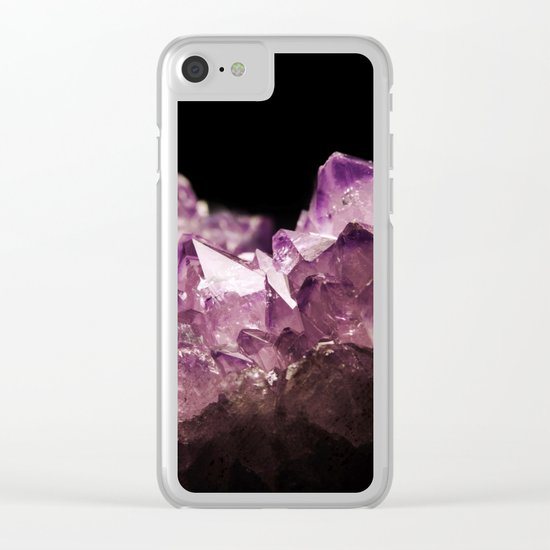 Amethyst Quartz Clear iPhone Case