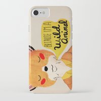 golden iPhone & iPod Cases featuring Because I'm a Wild Animal by Nan Lawson