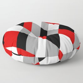Red Prism Floor Pillow