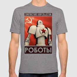 Robot Constructivist Art USSR T-shirt