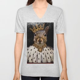 Lord Peanut (King of the Squirrels!) Unisex V-Neck