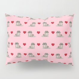 Pekingese hearts love dog breed dog mom gifts for unique dog pure breed owners Pillow Sham