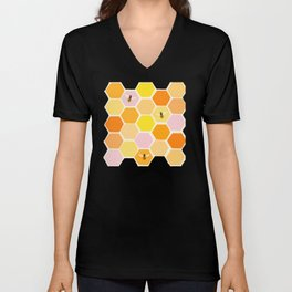 Busy As A Bee In A Hive Unisex V-Neck