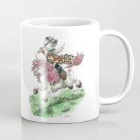 bouletcorp Mugs featuring Barbarian Unicorn by Bouletcorp