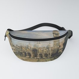 Canaletto - The Piazza San Marco in Venice Fanny Pack