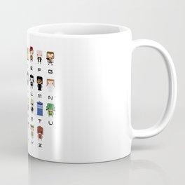 Doctor Who Alphabet Coffee Mug