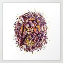 Owl's a Stage Art Print