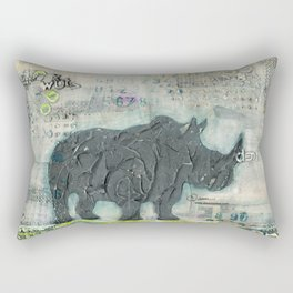 Majestic Series: Rhino on a roll Rectangular Pillow