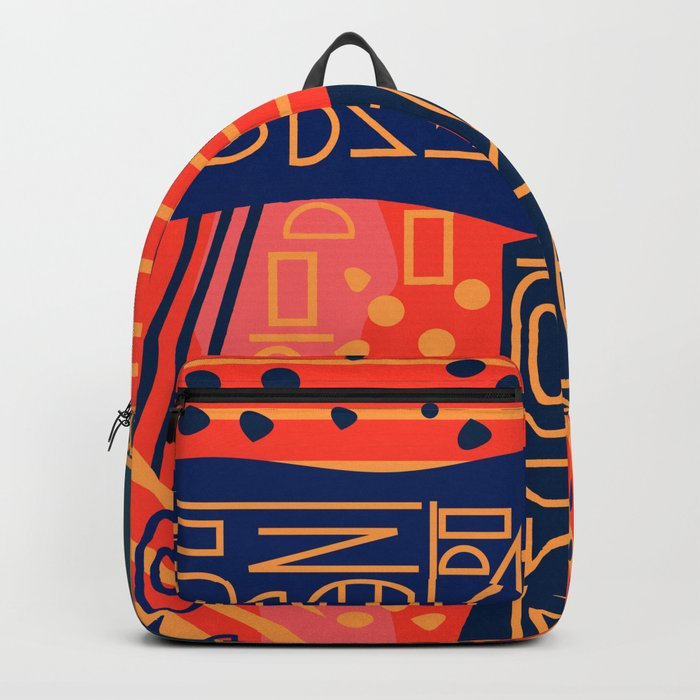 Strange alphabet Backpack