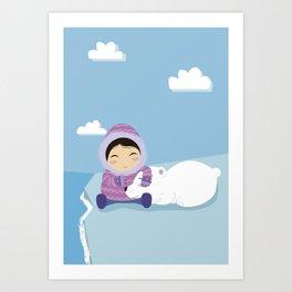 Polar friends Art Print
