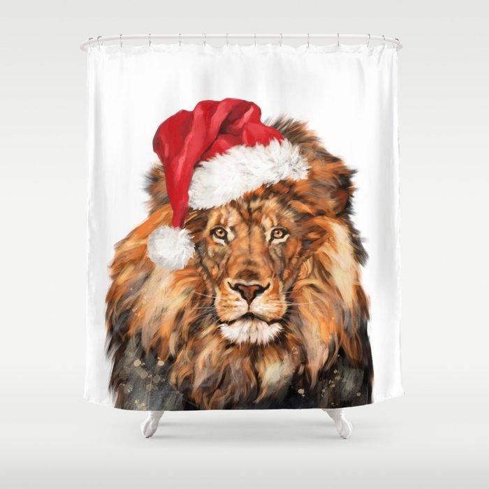 Christmas Lion Shower Curtain